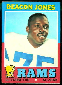 Deacon Jones 1971 Topps football card