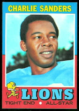 Charlie Sanders 1971 Topps football card