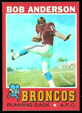 Bob Anderson 1971 Topps football card