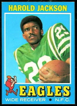 Harold Jackson 1971 Topps football card