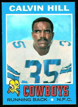 Calvin Hill 1971 Topps football card