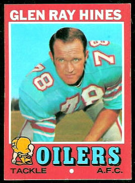 Glen Ray Hines 1971 Topps football card