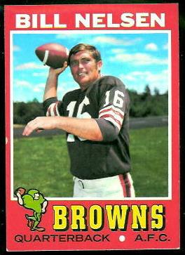 Bill Nelsen 1971 Topps football card