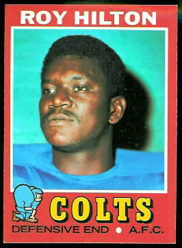 Roy Hilton 1971 Topps football card