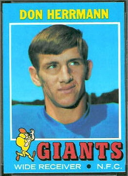Don Herrmann 1971 Topps football card