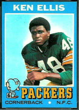 Ken Ellis 1971 Topps football card