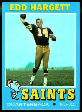 Edd Hargett 1971 Topps football card