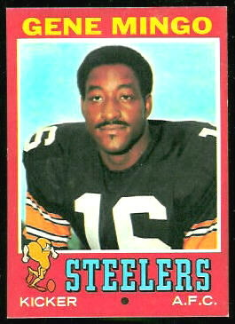 Gene Mingo 1971 Topps football card