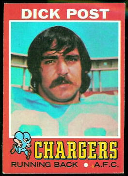 Dick Post 1971 Topps football card