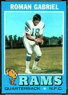 Roman Gabriel 1971 Topps football card