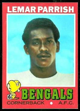 Lemar Parrish 1971 Topps football card
