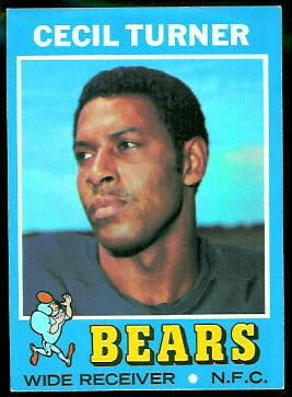Cecil Turner 1971 Topps football card