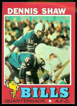 Dennis Shaw 1971 Topps football card