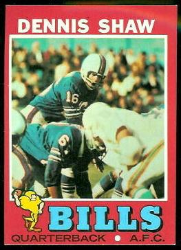 Dennis Shaw 1971 Topps football card