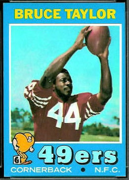 Bruce Taylor 1971 Topps football card