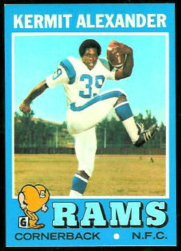 Kermit Alexander 1971 Topps football card