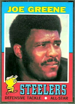 Joe Greene 1971 Topps football card