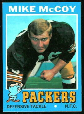 Mike McCoy 1971 Topps football card