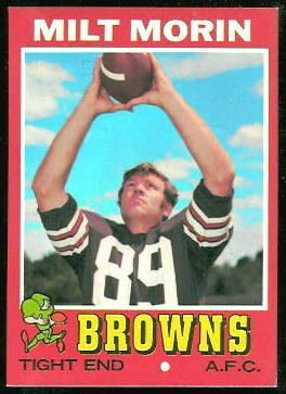 Milt Morin 1971 Topps football card