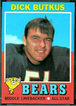 Dick Butkus 1971 Topps football card