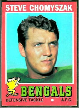 Steve Chomyszak 1971 Topps football card