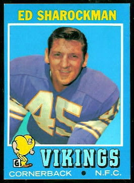 Ed Sharockman 1971 Topps football card