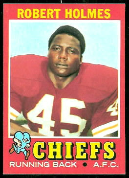 Robert Holmes 1971 Topps football card