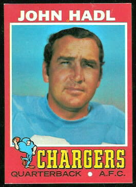 John Hadl 1971 Topps football card