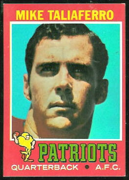Mike Taliaferro 1971 Topps football card