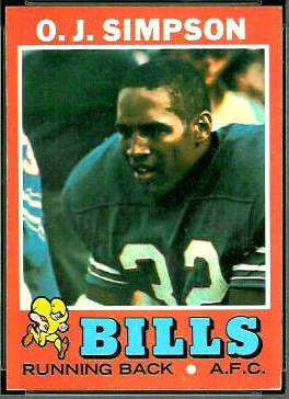 O.J. Simpson 1971 Topps football card