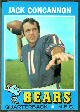Jack Concannon 1971 Topps football card