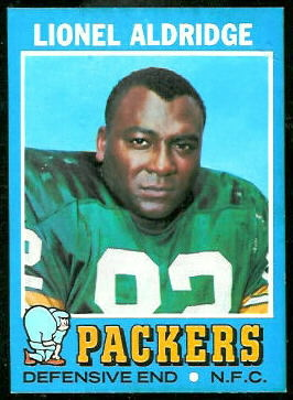 Lionel Aldridge 1971 Topps football card