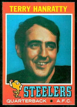 Terry Hanratty 1971 Topps football card