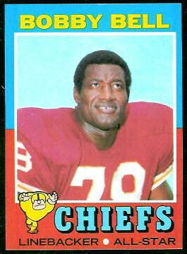 Bobby Bell 1971 Topps football card