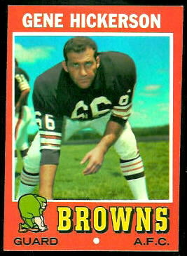 Gene Hickerson 1971 Topps football card