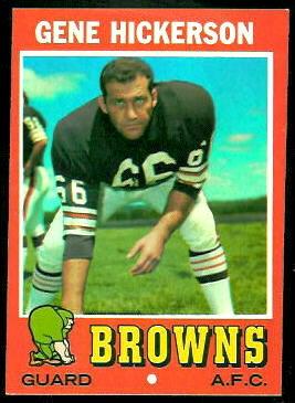 Gene Hickerson 1971 Topps football card