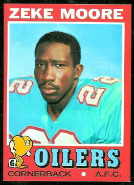 Zeke Moore 1971 Topps football card