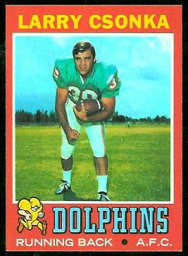 Larry Csonka 1971 Topps football card