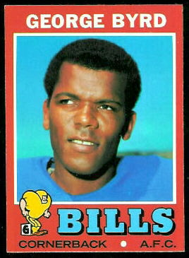 George Byrd 1971 Topps football card