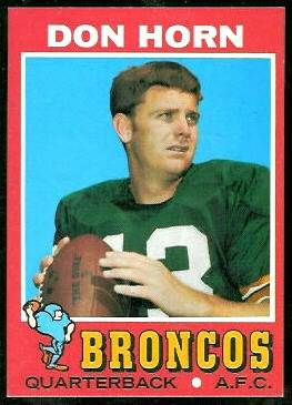 Don Horn 1971 Topps football card