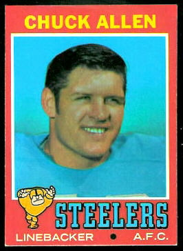 Chuck Allen 1971 Topps football card