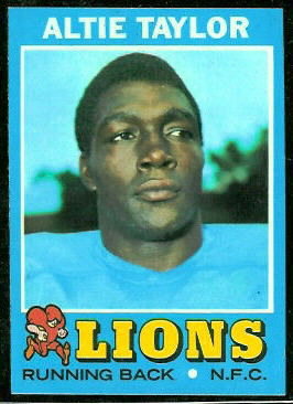Altie Taylor 1971 Topps football card