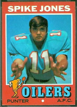 Spike Jones 1971 Topps football card