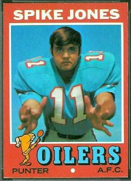 Spike Jones 1971 Topps football card