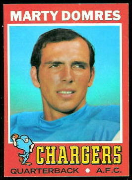 Marty Domres 1971 Topps football card