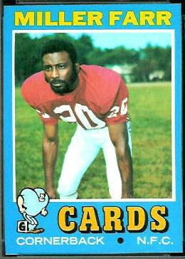 Miller Farr 1971 Topps football card