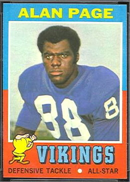 Alan Page 1971 Topps football card