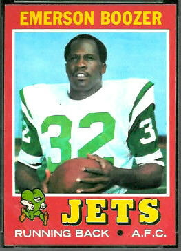 Emerson Boozer 1971 Topps football card