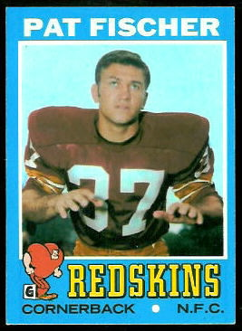 Pat Fischer 1971 Topps football card
