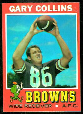 Gary Collins 1971 Topps football card